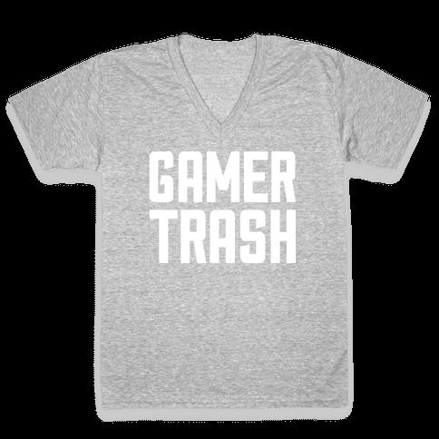 Gamer Trash V-Neck Tee Shirt