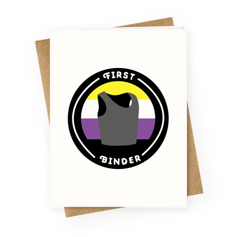 First Binder Patch (Nonbinary) Greeting Card
