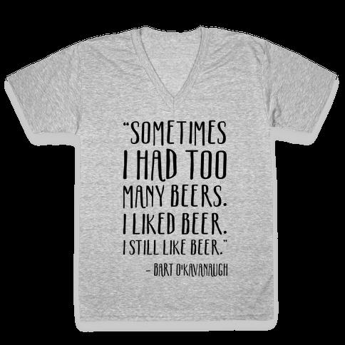 I Still Like Beer V-Neck Tee Shirt