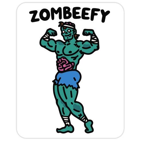 Zombeefy Parody Die Cut Sticker