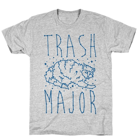 Trash Major Raccoon Constellation Parody T-Shirt