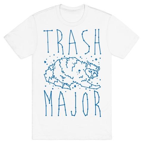 Trash Major Raccoon Constellation Parody T-Shirt