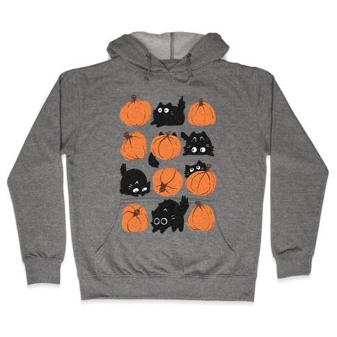 Pumpkin Cats Hooded Sweatshirt