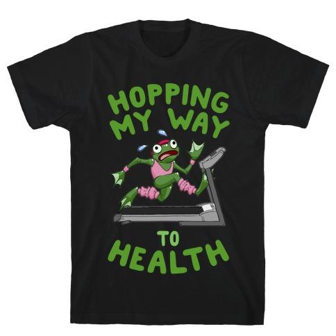 Hopping My Way To Health Mens/Unisex T-Shirt