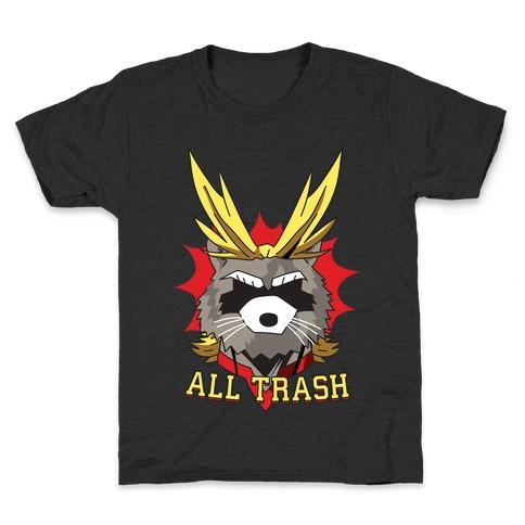 All Trash (All Might Raccoon) Kids T-Shirt