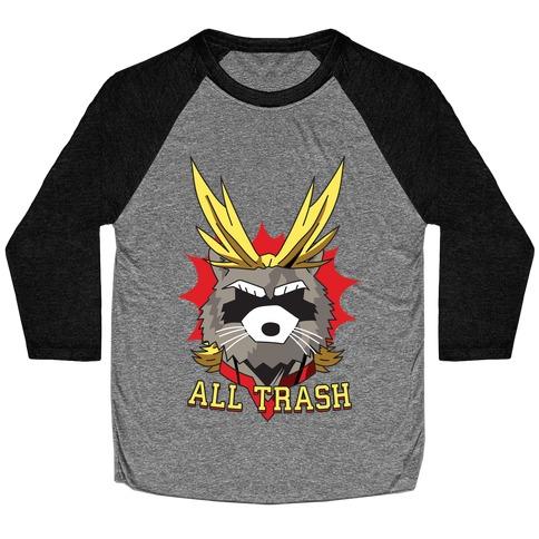All Trash (All Might Raccoon) Baseball Tee