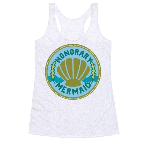 Honorary Mermaid Culture Merit Badge Racerback Tank Top