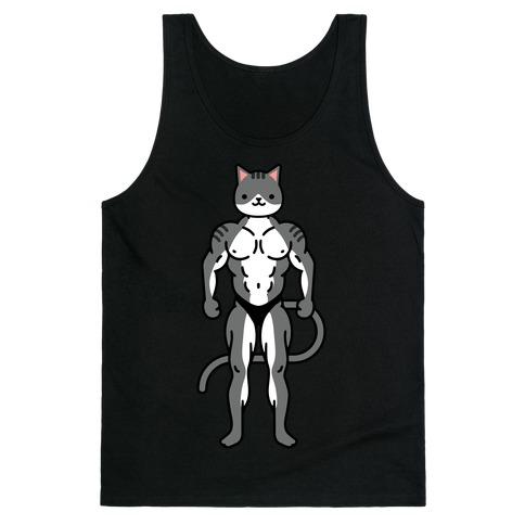 Buff Cat Grey Tabby Tank Top