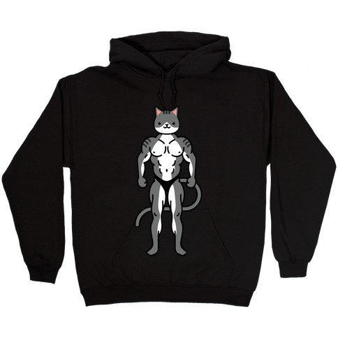 Buff Cat Grey Tabby Hooded Sweatshirt