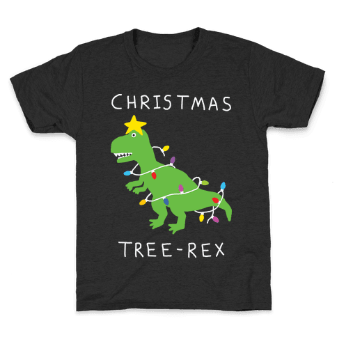 Christmas Tree Rex Kids T-Shirt