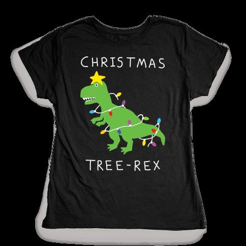 Christmas Tree Rex Womens T-Shirt
