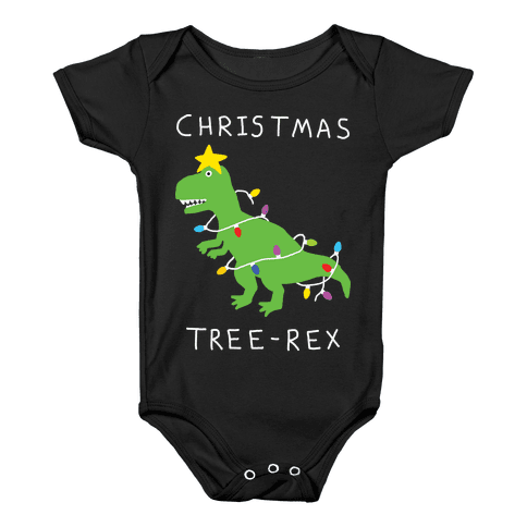 Christmas Tree Rex Baby Onesy