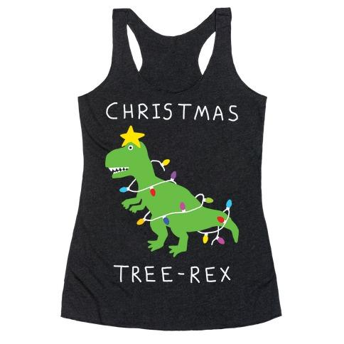 Christmas Tree Rex Racerback Tank Top
