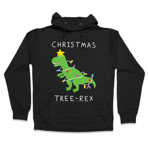 Christmas Tree Rex Hooded Sweatshirt