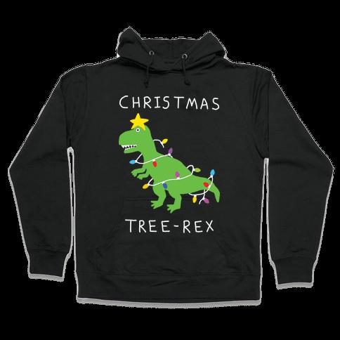 Christmas Tree Rex Hooded Sweatshirt