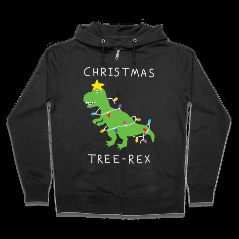 Christmas Tree Rex Zip Hoodie