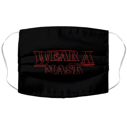 Wear A Mask Stranger Things Parody Accordion Face Mask