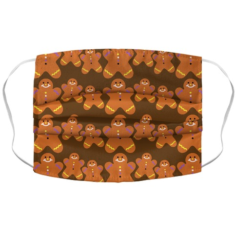 Ginger Bread Them Pattern Accordion Face Mask