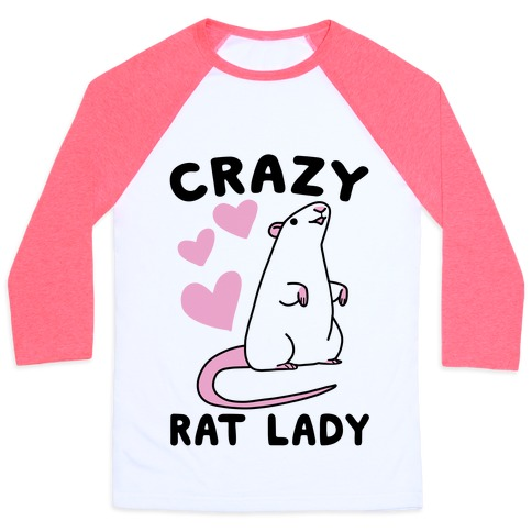 Crazy Rat Lady Baseball Tee