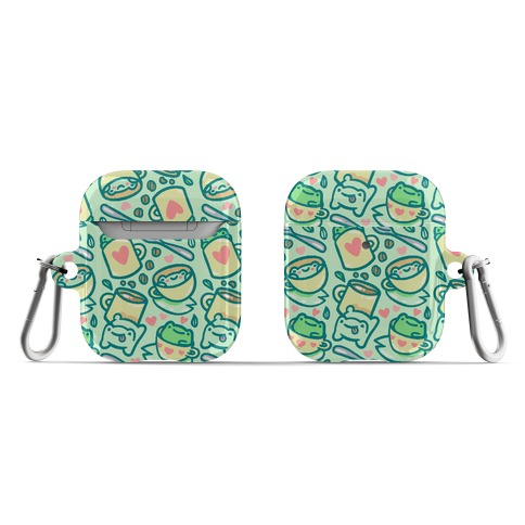 Coffee And Tea Frogs AirPod Case