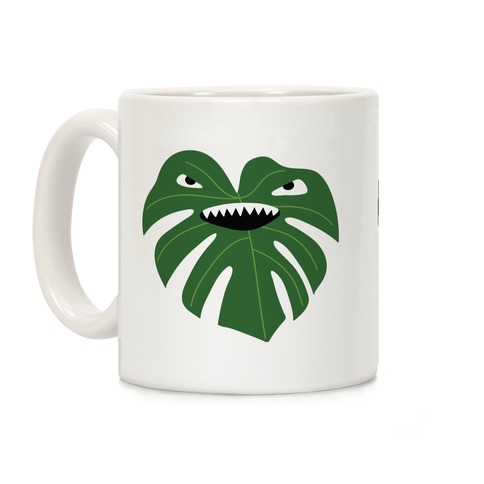Monstera Leaf Monster Coffee Mug