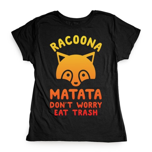 Raccoona Matata Ombre Womens T-Shirt