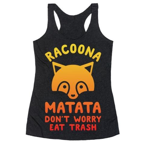 Raccoona Matata Ombre Racerback Tank Top