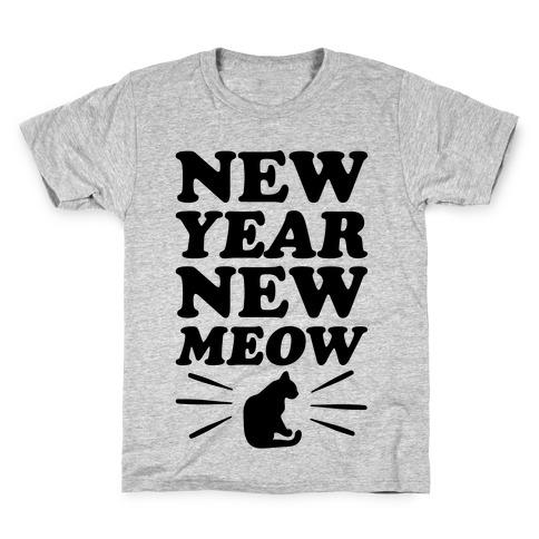 New Year New Meow Kids T-Shirt
