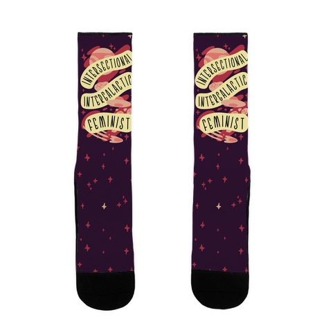 Intersectional Intergalactic Feminist Sock