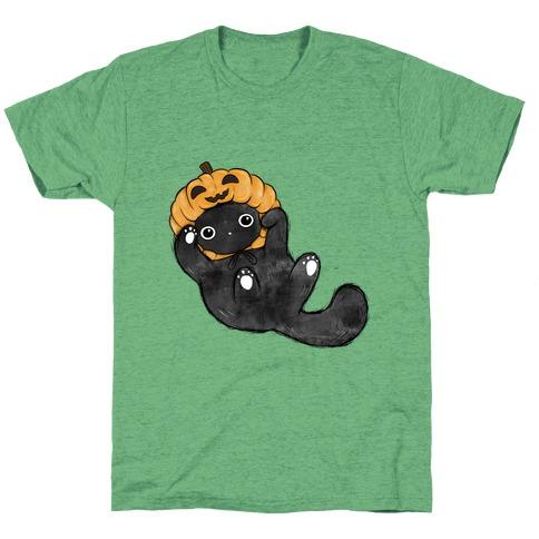 Pumpkin Cat T-Shirt