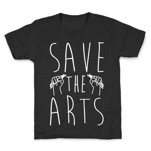 Save The Arts White Print Kids T-Shirt