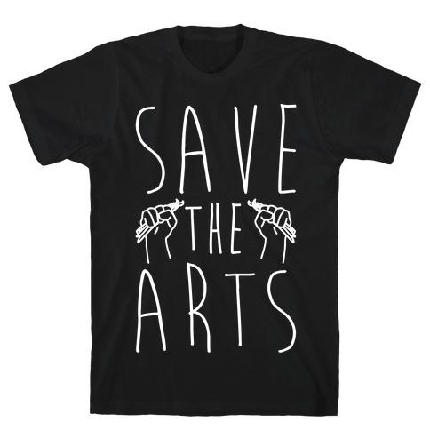Save The Arts White Print T-Shirt