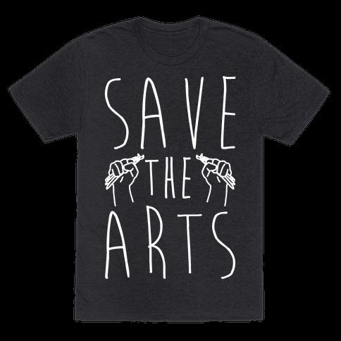 Save The Arts White Print