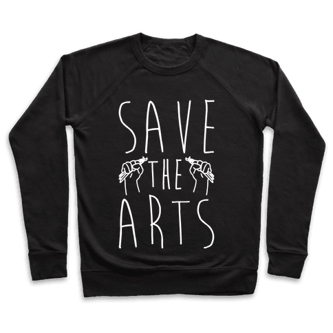 Save The Arts White Print Pullover