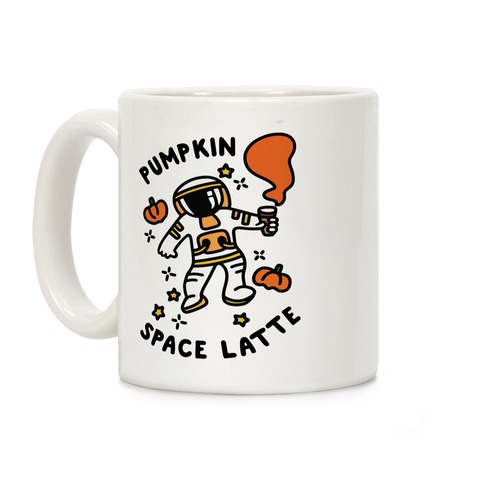 Pumpkin Space Latte Astronaut Coffee Mug