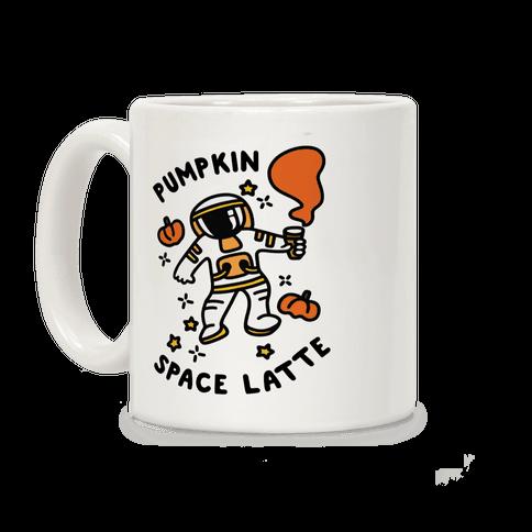 Pumpkin Space Latte Astronaut Coffee Mug