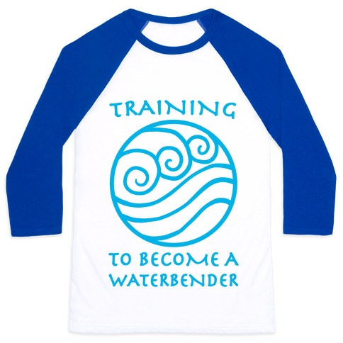 Training to Become A Waterbender Baseball Tee