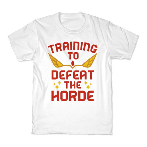Training to Defeat the Horde Kids T-Shirt