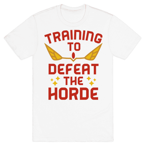 Training to Defeat the Horde Mens T-Shirt