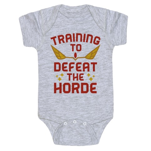 Training to Defeat the Horde Baby Onesy