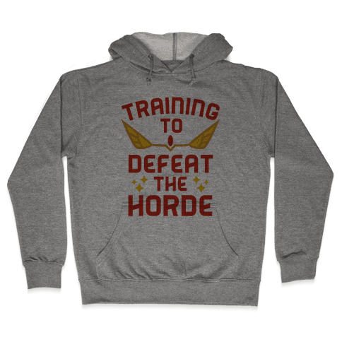 Training to Defeat the Horde Hooded Sweatshirt