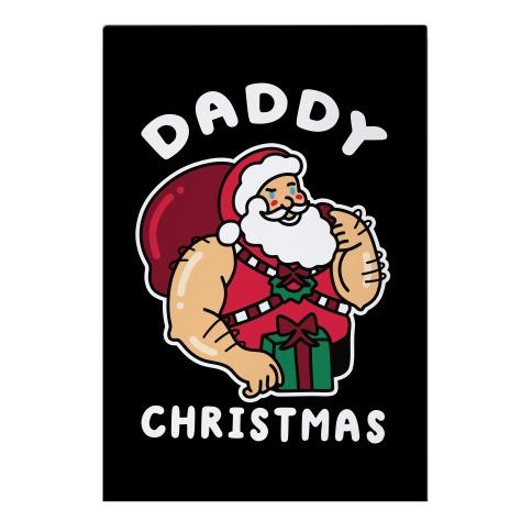 Daddy Christmas Garden Flag