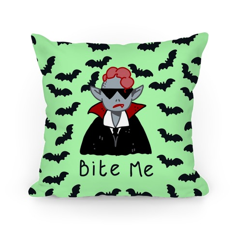 Bite Me Vampire Pillow