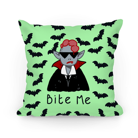 Bite Me Vampire Pillow