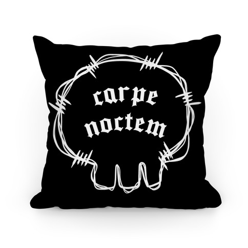 Carpe Noctem (black)  Pillow