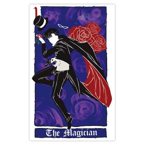 Tuxedo Mask The Magician Tarot Card Die Cut Sticker