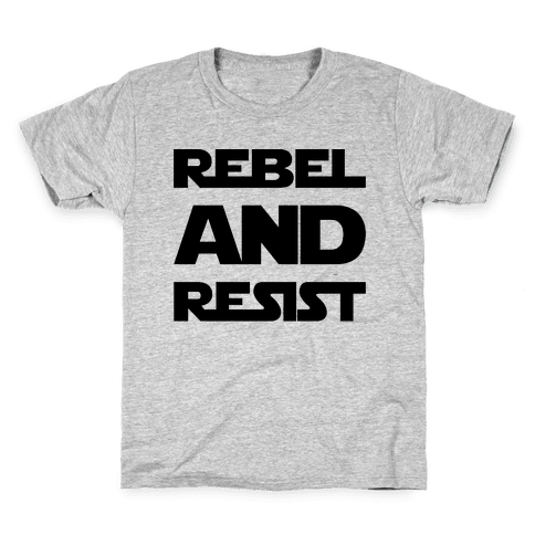 Rebel and Resist Parody Kids T-Shirt