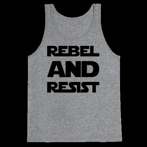 Rebel and Resist Parody Tank Top