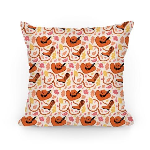 Fall Cowboy Pattern Pillow