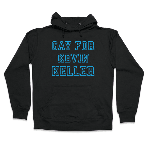 Gay For Kevin Keller Parody White Print Hooded Sweatshirt